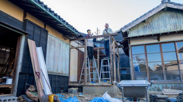 増築部分の撤去作業